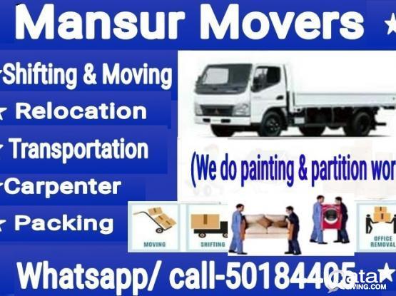 50184405.-House,villa,store,office item shifting & moving ,carpenter & transport service..