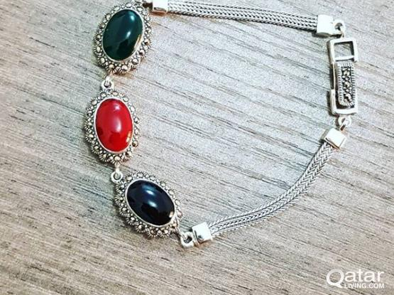 pure italian silver hand bracelet for female
