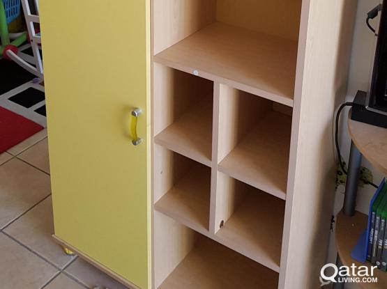 Children room Furniture: A Wardrobe and a Book Shelve