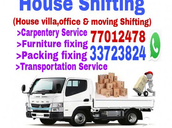 Call 77012478 good price for moving,shifting pickup carpentry service.