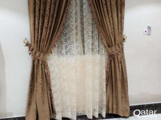 We are sale curtains,Bed & Mattress.Cell:31328448.Online Shop.