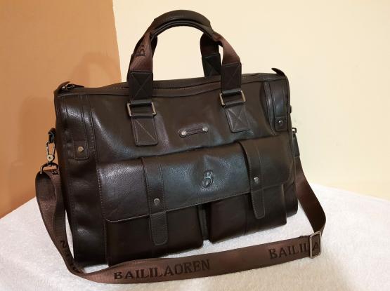 "Leather Laptop Bag - 15"""
