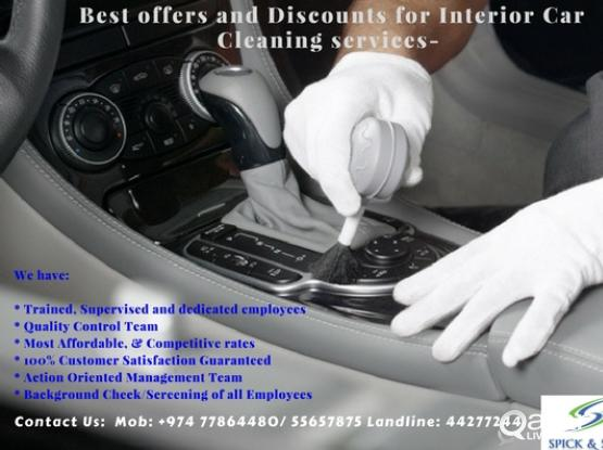 BEST PRICE FOR INTERIOR CAR CLEANING. HURRY UP AND GET THE OFFER... | Qatar  Living