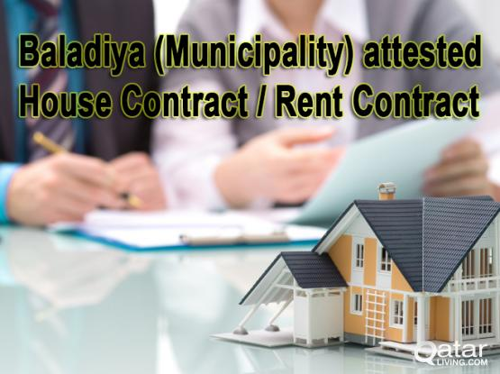 Baladiya attested Rent Agreement of Genuine Property