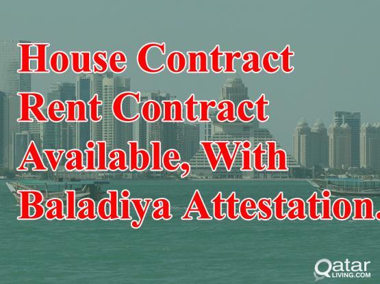 100% Gaurantee House Contract For Family Visa With Baladiya (Municipality Attestion)