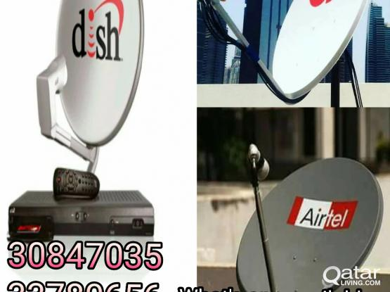 Dish and Satellite Installation and Services call me 33780656 & 30847035