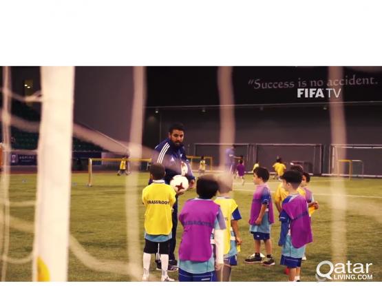 Football training lesson