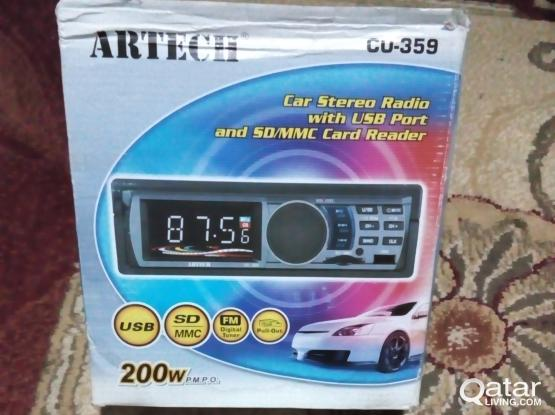 """""""ARTECH"""" CAR STEREO RADIO WITH USB PORT AND SD/MMC CARD READER"""