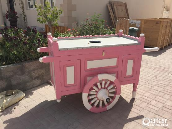 Trolly using for gardens or pool