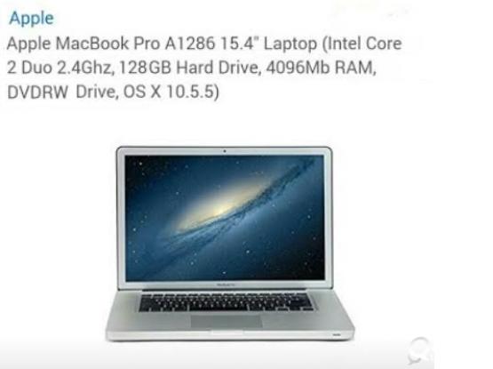 """Emergency Sale / Swap- Apple Laptop 15.6"""""""