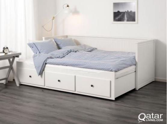 sports shoes 157b1 f2fa2 Bed w 3 drawers/2 mattresses, white, Husvika firm | Qatar Living