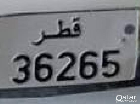 Car Plate Number 36265 FOR SALE