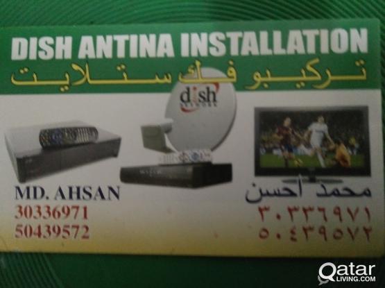 Satellite Dish AirTel Antenna Installation 30336971/50439572