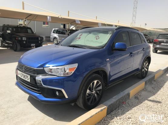 Selling Mitsubishi ASX 2017 Blue- Full Option