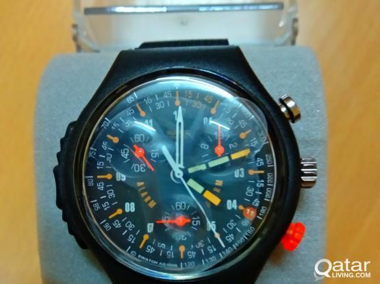 Brand new swatch sport watch with alarm QR.300