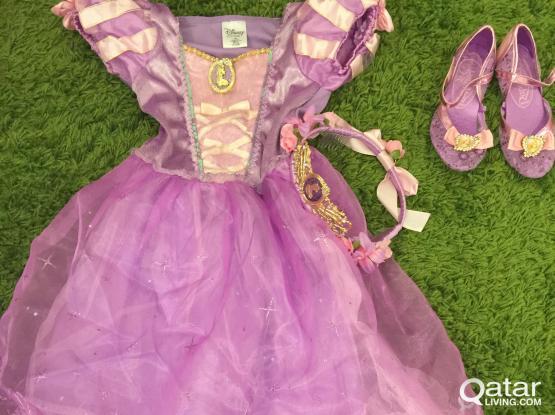 Original DISNEY Rapunzel Costume for Kids with sho