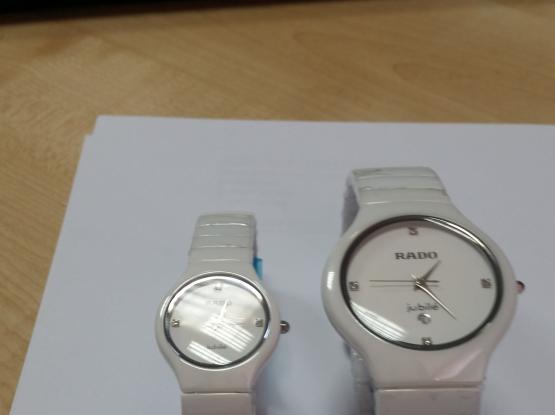 White & White  Watches (Rado & Armani)