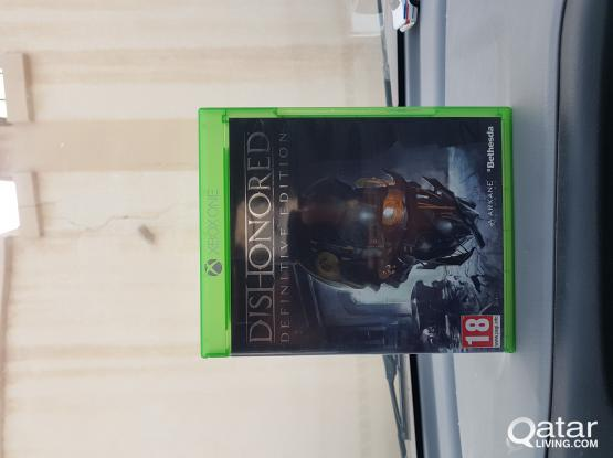 xbox one game. dishonored.