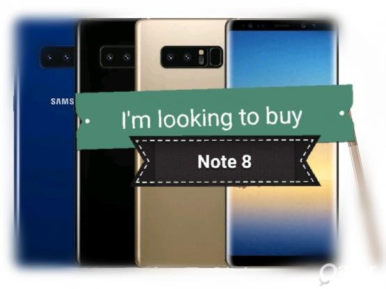 I'm looking to buy  Samsung note 8