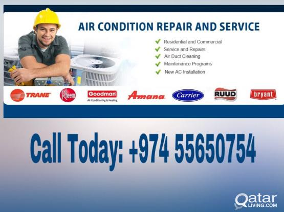 AIR CONDITIONING SERVICES AND REPAIR IN QATAR