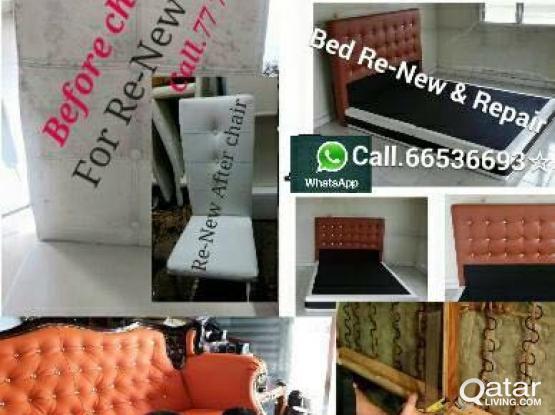 SOFA BED MAJLISH. CHAIR re-upholstery &Repair