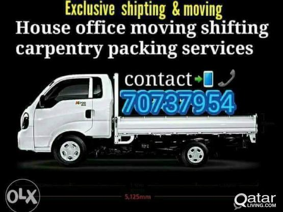 (little price) MOVING SHIFTING HOUSE VILLA OFFICE CARPENTER PAKING SERVICE 70737954/ 55481