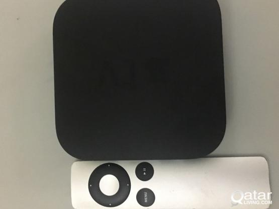 apple tv with remote and power cable