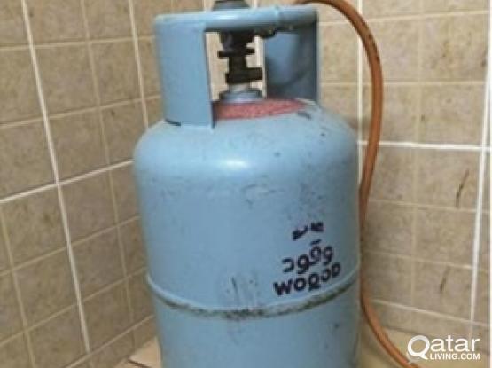 Woqod Metal Gas Cylinder + Regulator + Hose for Sa