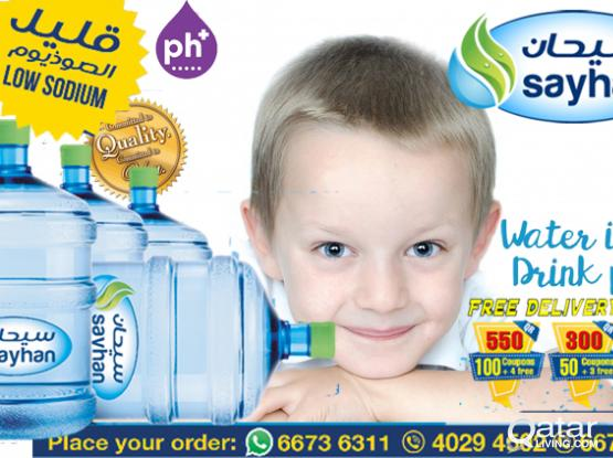 Sayhan 5 gallon bottle water  Low sodium,Perfect PH balance,commitment to quality& Service  Call