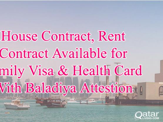 30730359-With Baladiya Attestion Tenancy Contract/House Contract Provided For family
