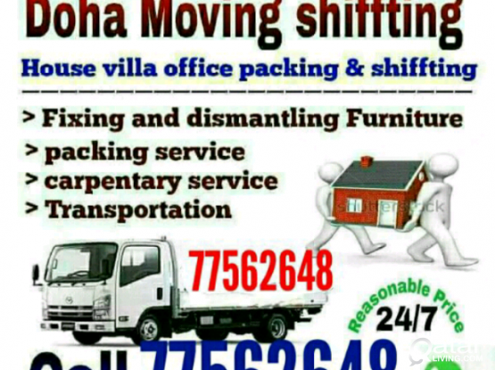Moving shifting carpentary service call me 77562648