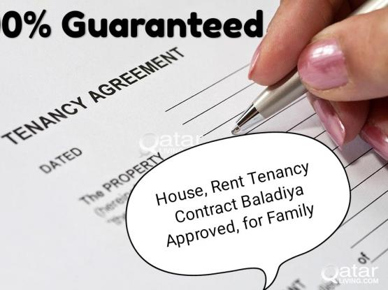 House, Tenancy, Rent Contract 100% Guaranteed for Visas health card