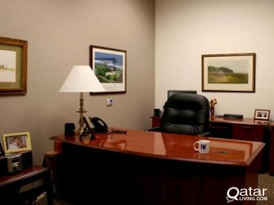 Fully furnished Shared office space In beautiful location-BIn Omran