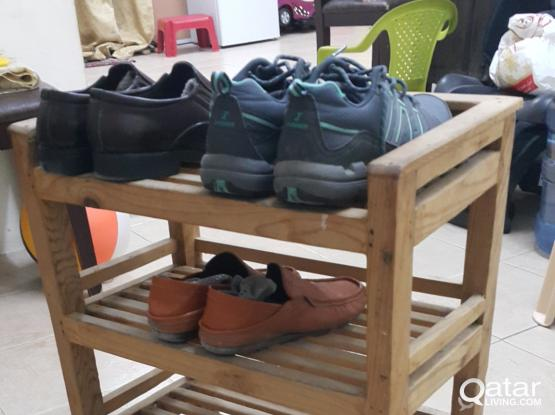 Wooden Shoe Rack & Stainless steel drainer for kitchen