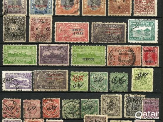 58 Old Indian Stamps