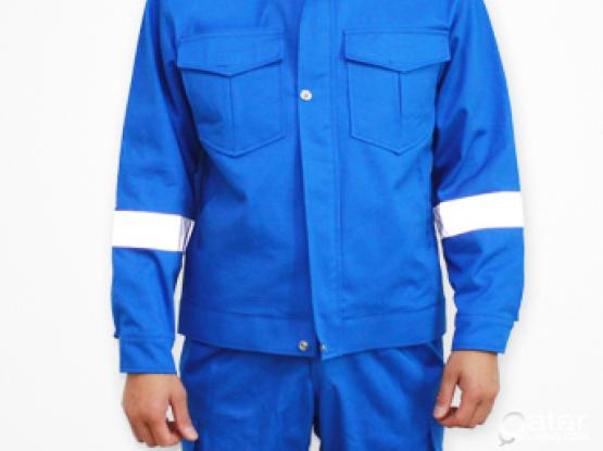 TWO PIECE ROYL BLUE COVERALL 100% COTTON