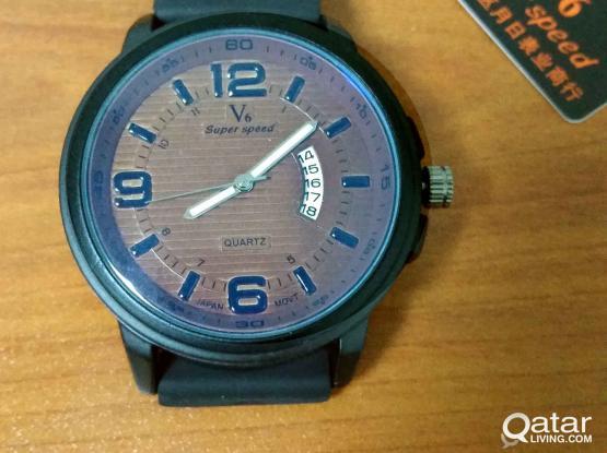 High Quality Blue Glass Japan Movement watch