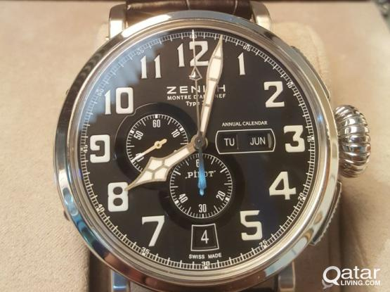 Zenith Pilot Type 20 Annual Calendar Stainless Steel Watch 03.2430.4054