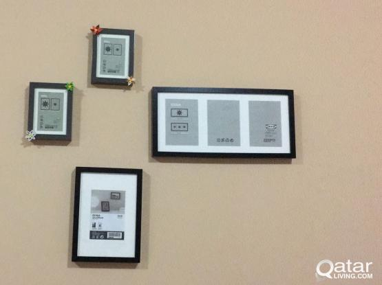 IKEA photo frames of different sizes