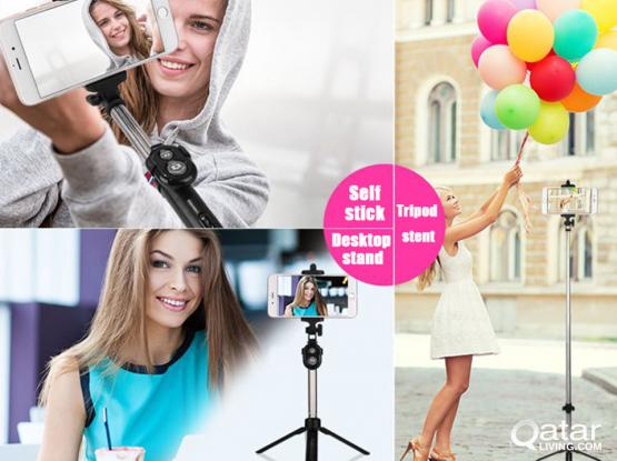 Phone Selfie Stick Handheld mini Tripod with Bluetooth Shutter Remote Controller Foldable
