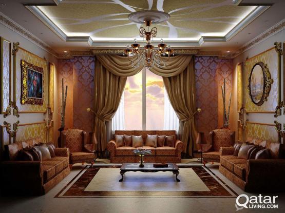 interior designing and decoration التصميم الداخلي والديكور