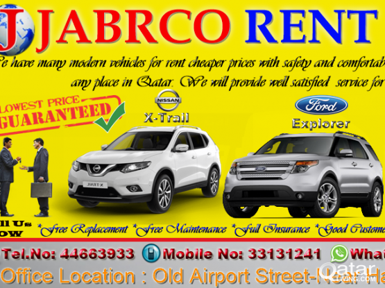 FORD EXPLORER AVAILABLE FOR RENT !!Call Us Now :33131241/44663933