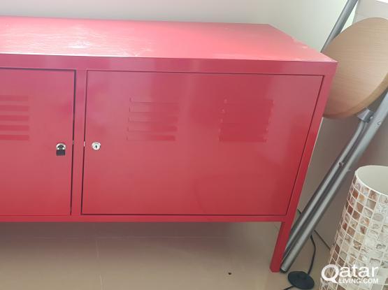 Red Ikea cabinet   Qatar Living
