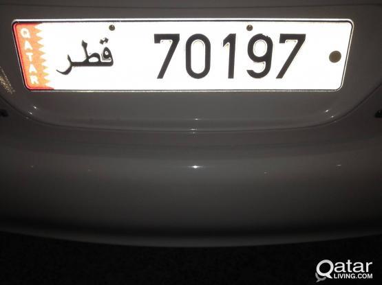 5 digits plate