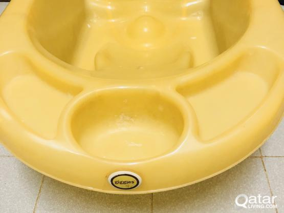 baby walker and bath tub