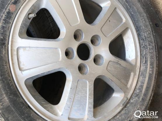 Alloy Wheel  and Tyre- GOOD YEAR, Size:55R17