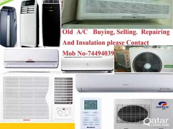All type Used Ac Selling, buying, installation and maintenance.
