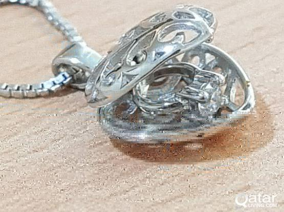 Heart Pendant with necklace- Pure Sterling Silver JEwelry