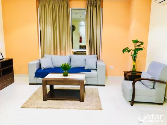 FULLY FURNISHED 1 BEDROOM APARTMENTS .
