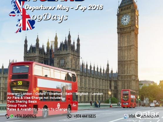 England Tour - Fixed Departures